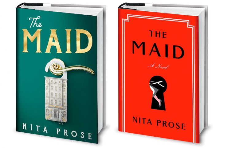 UK and American covers for The Maid
